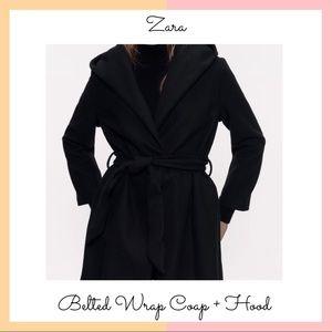 Zara • Belted Wrap Coat